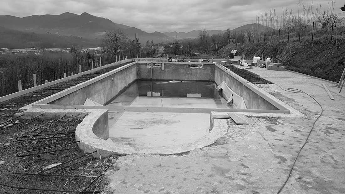 Ristrutturazione Telo pvc tridimensionale antracite skimmer piscina